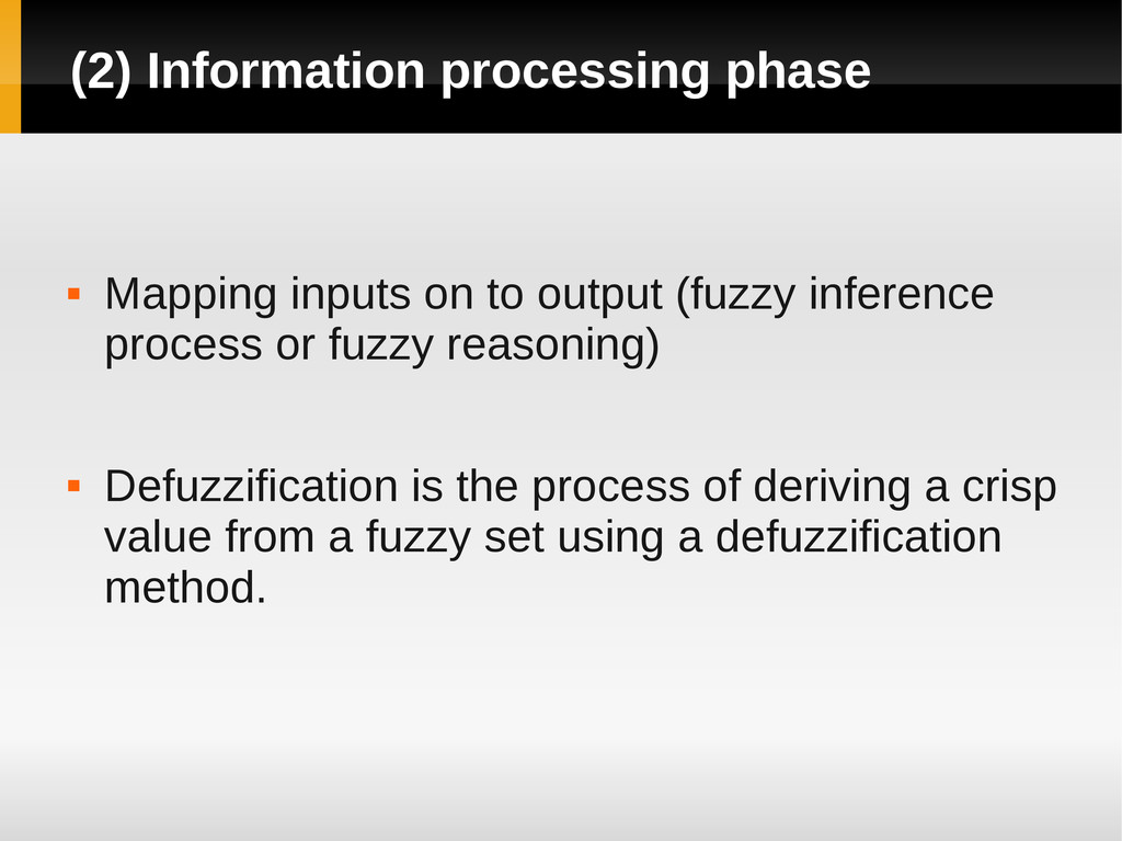 (2) Information processing phase  Mapping inpu...