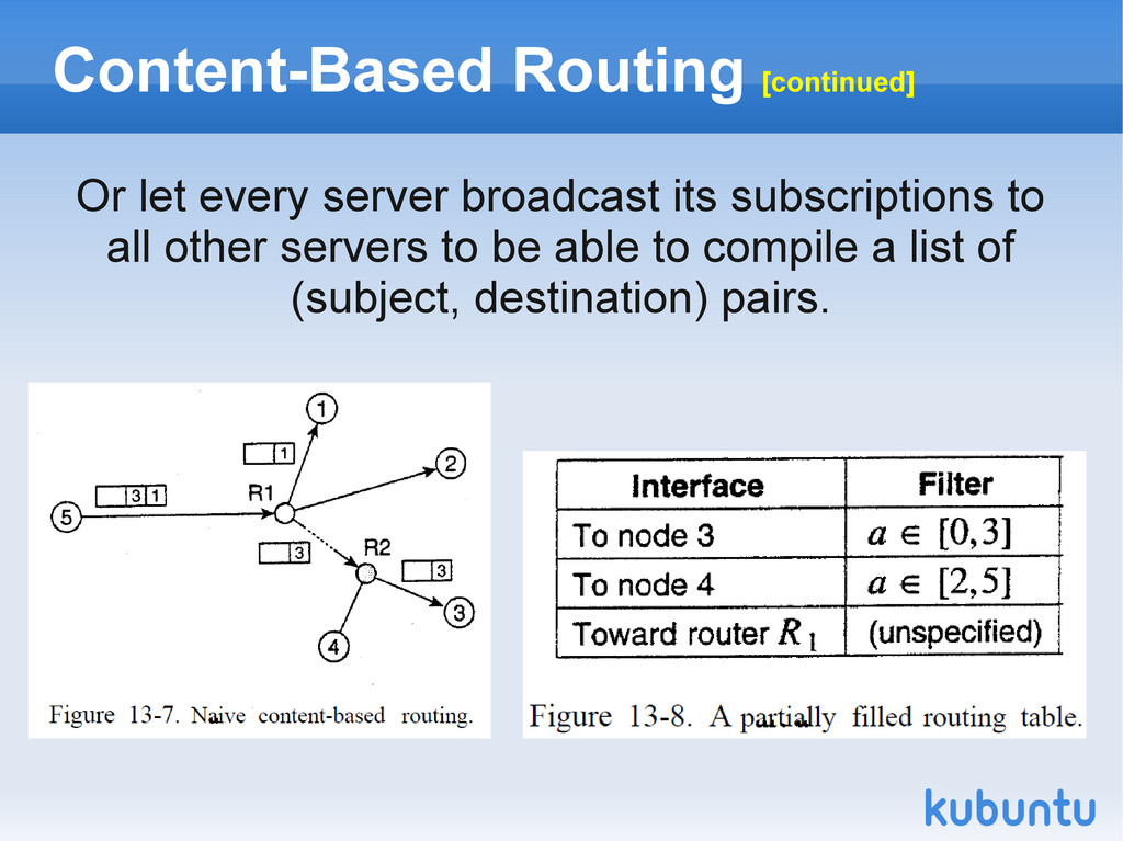 Content-Based Routing [continued] Or let every ...