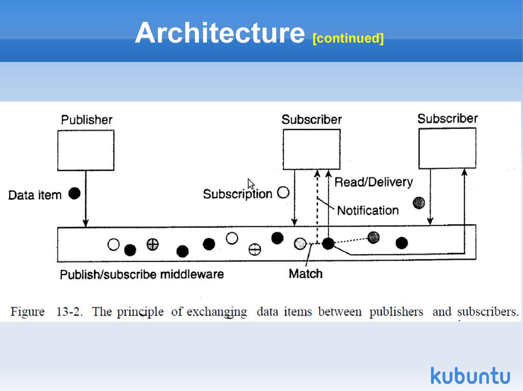 Architecture [continued]