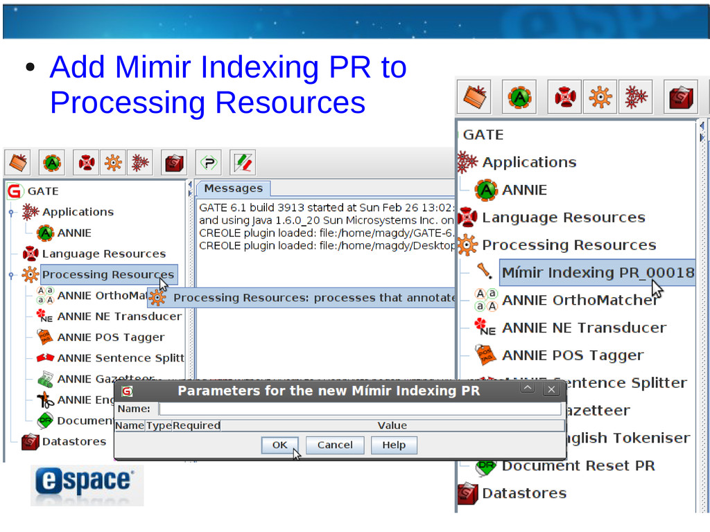 ● Add Mimir Indexing PR to Processing Resources