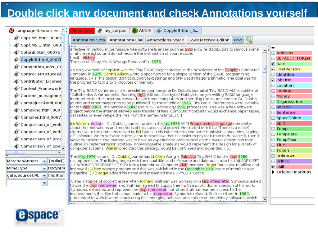 Double click any document and check Annotations...