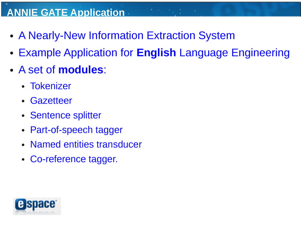 ANNIE GATE Application ● A Nearly-New Informati...