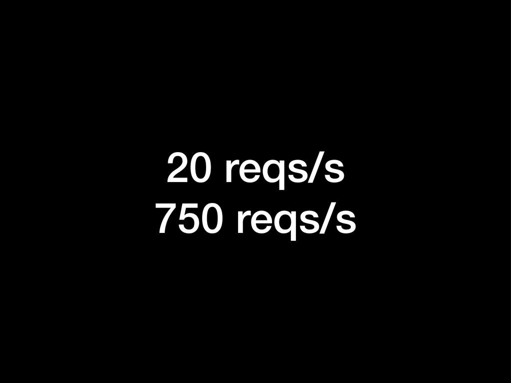 20 reqs/s 750 reqs/s