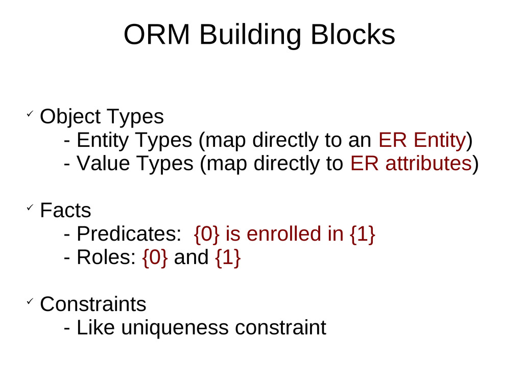 ORM Building Blocks  Object Types - Entity Typ...