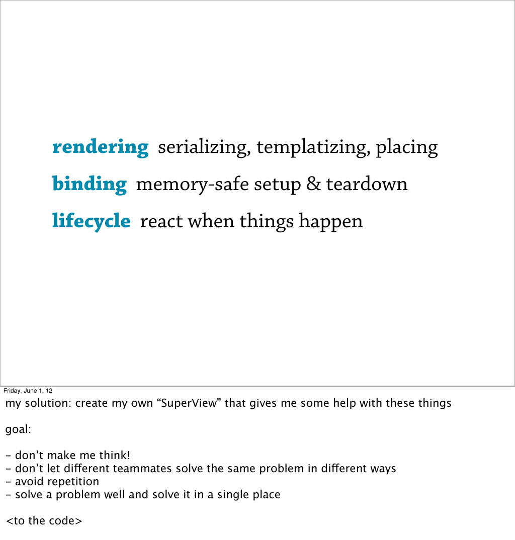 rendering serializing, templatizing, placing bi...