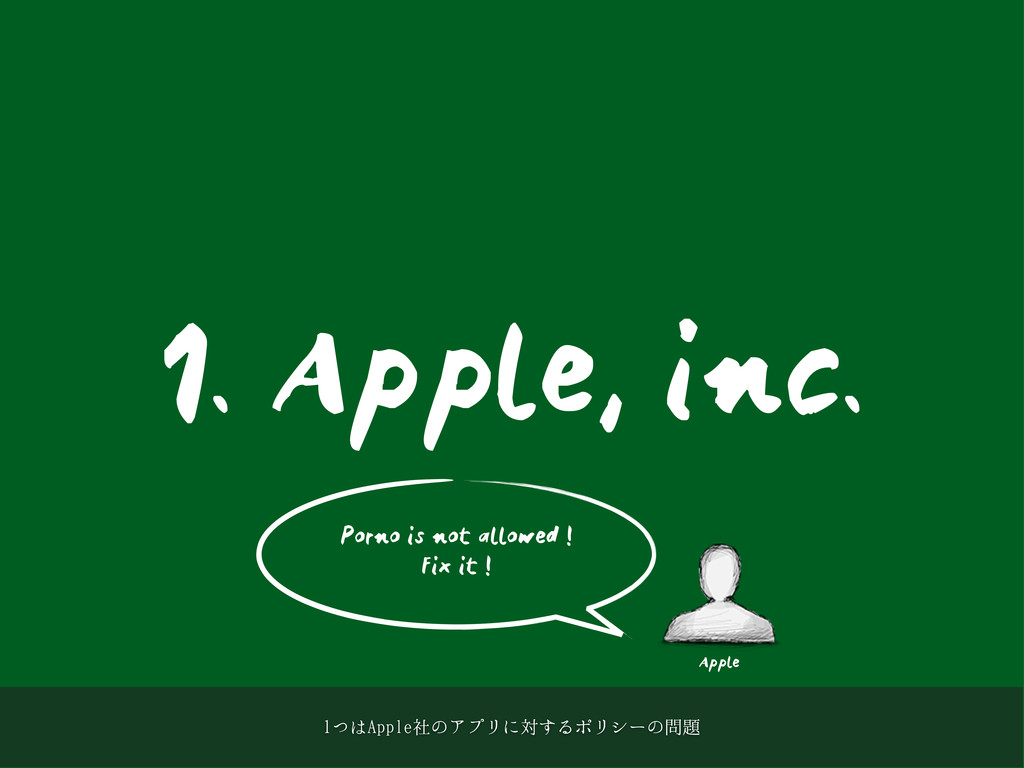 1. Apple, inc. Apple Porno is not allowed ! Fix...