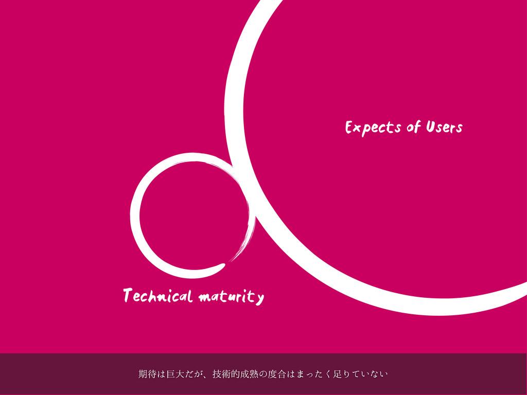 Technical maturity Expects of Users ظڊେ͕ͩɺٕज़త...
