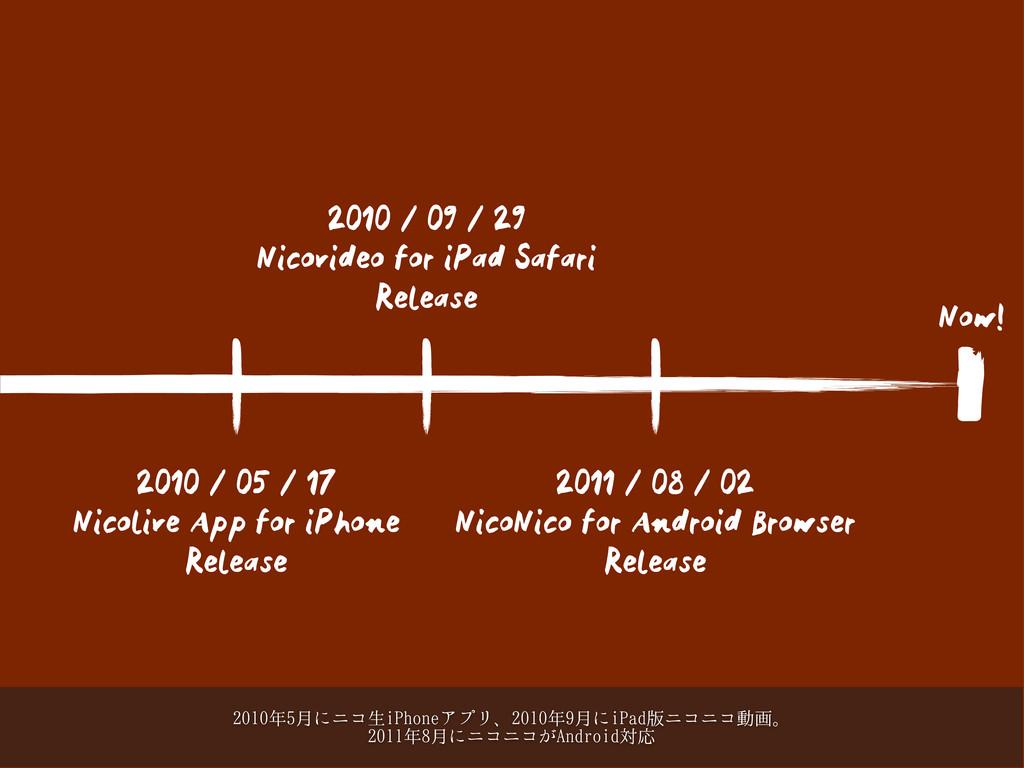 2010 / 09 / 29 Nicovideo for iPad Safari Releas...
