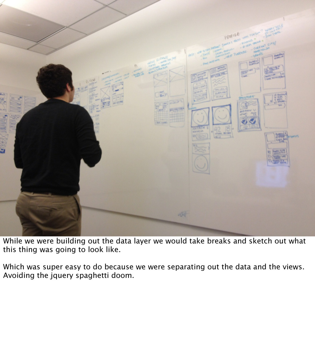 While we were building out the data layer we wo...