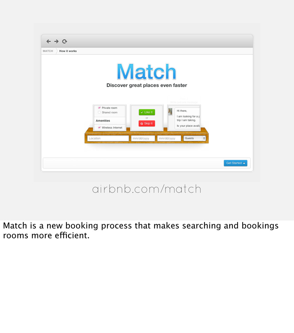 airbnb.com/match Match is a new booking process...