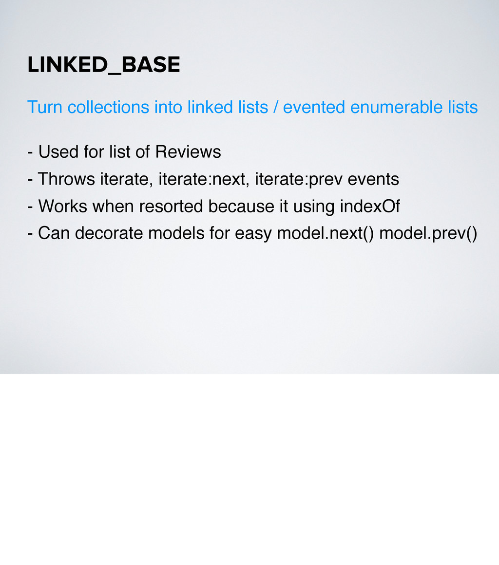 - Used for list of Reviews - Throws iterate, it...
