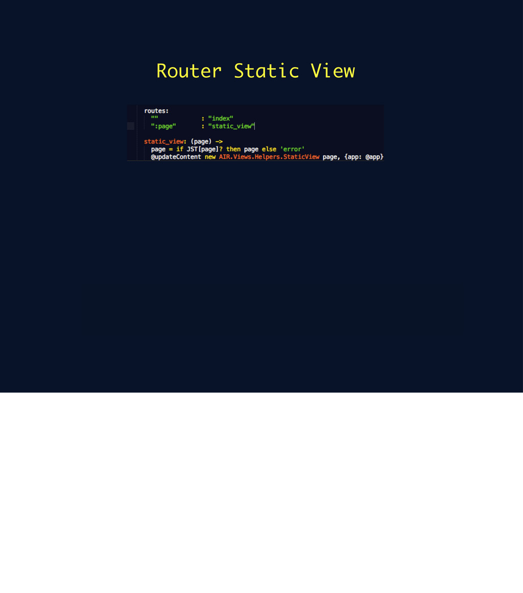 Router Static View