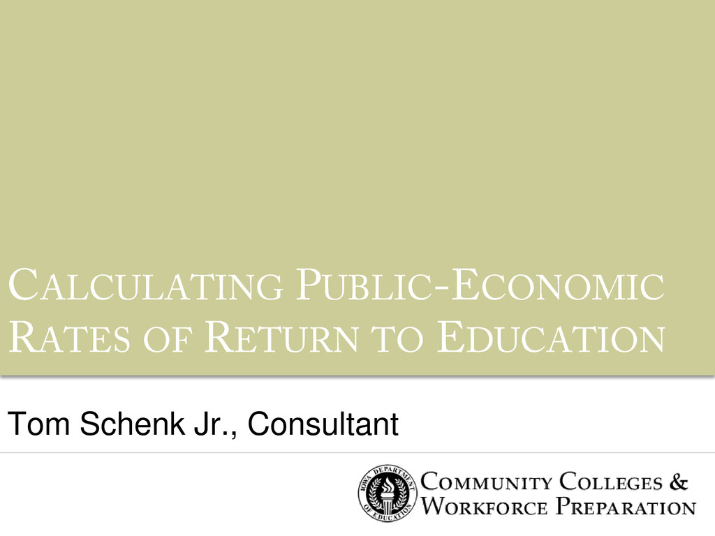 Tom Schenk Jr., Consultant