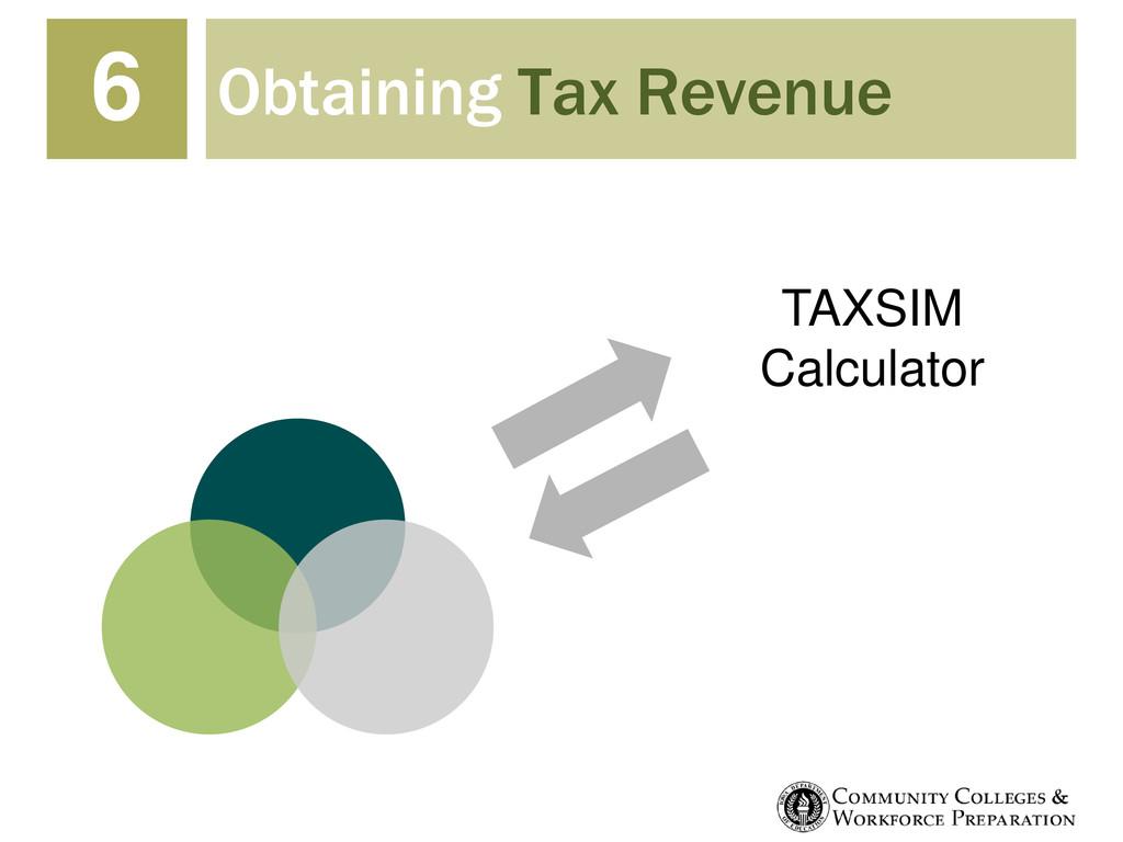 Obtaining Tax Revenue 6 TAXSIM Calculator