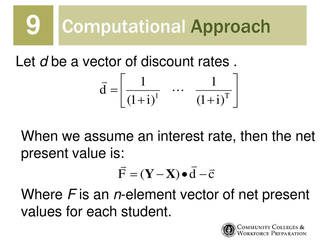 Computational Approach 9          T i ...
