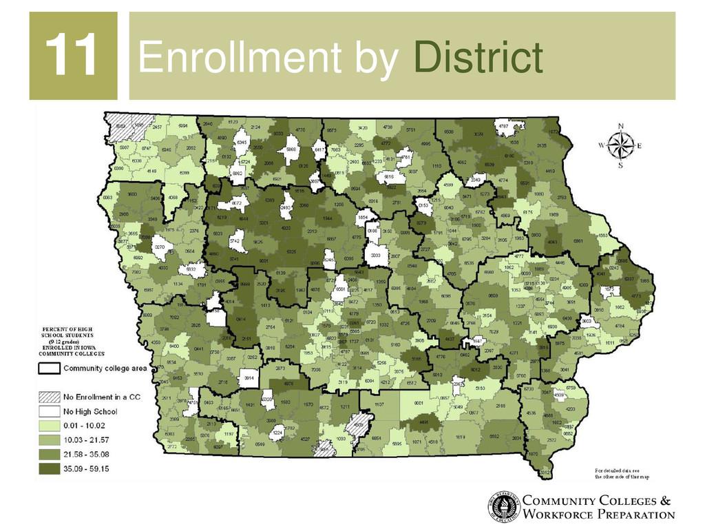Enrollment by District 11