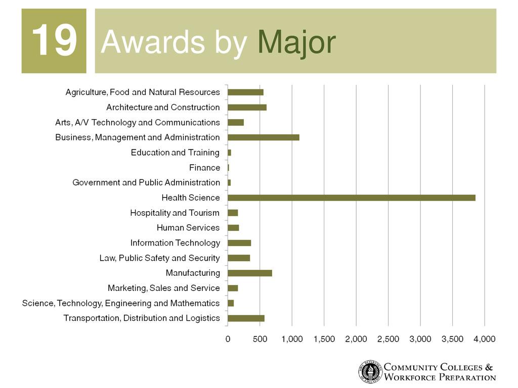 Awards by Major 19