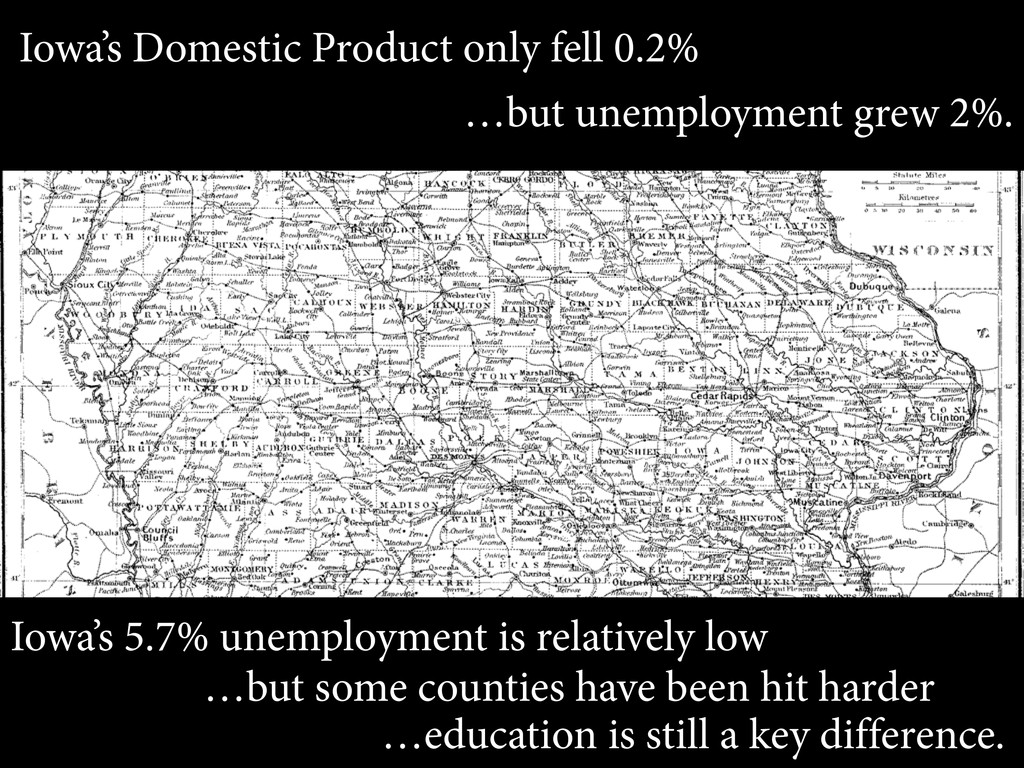 Iowa's Domestic Product only fell 0.2% …but une...