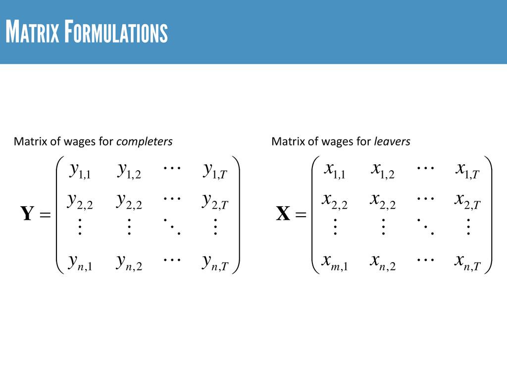 MATRIX FORMULATIONS              ...