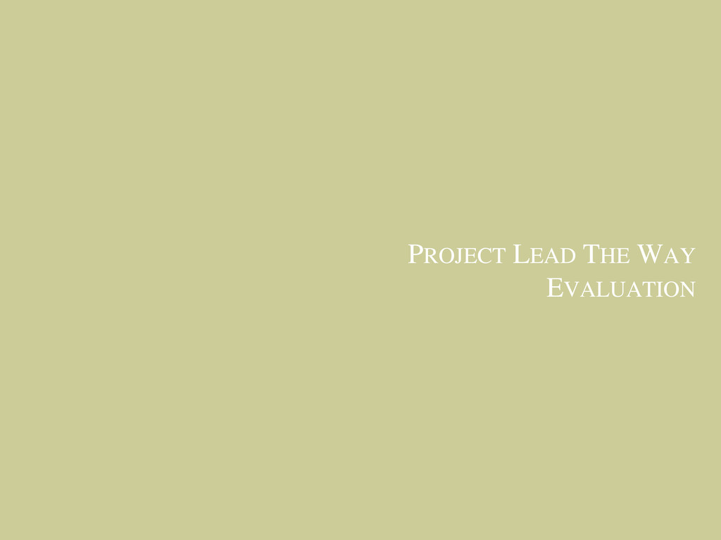 PROJECT LEAD THE WAY EVALUATION