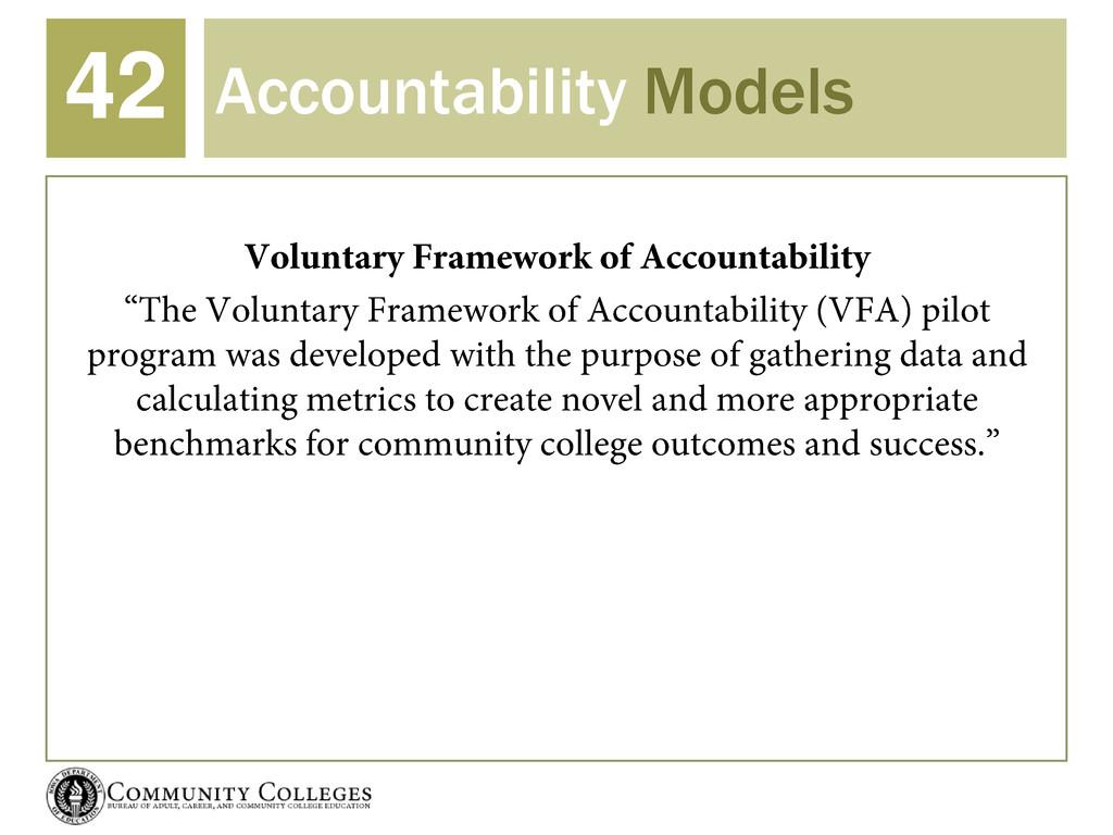 Accountability Models 42