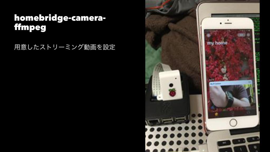 homebridge-camera- ffmpeg ༻ҙͨ͠ετϦʔϛϯάಈըΛઃఆ
