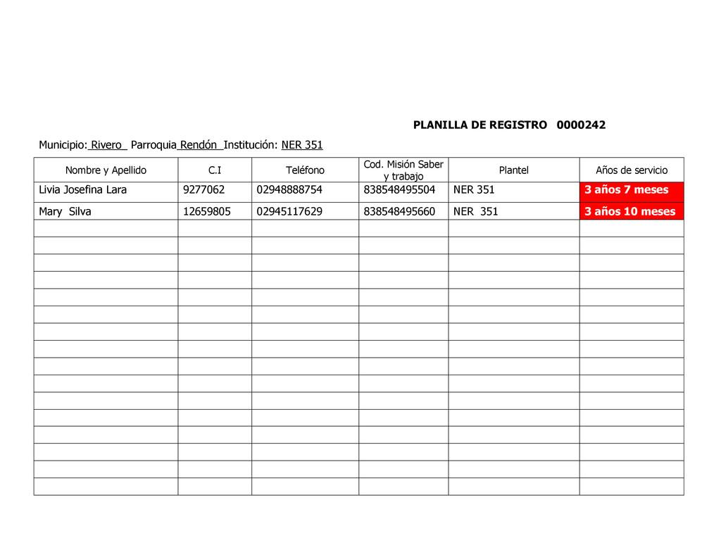 PLANILLA DE REGISTRO 0000242 Municipio: Rivero_...