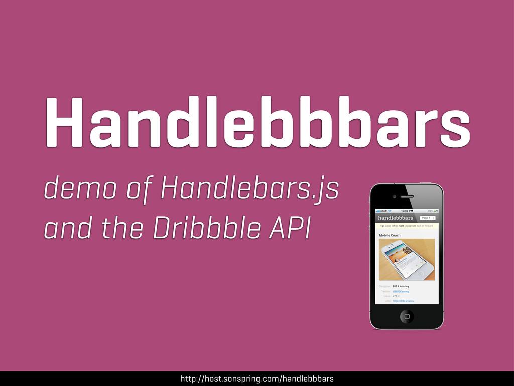 http://host.sonspring.com/handlebbbars Handlebb...