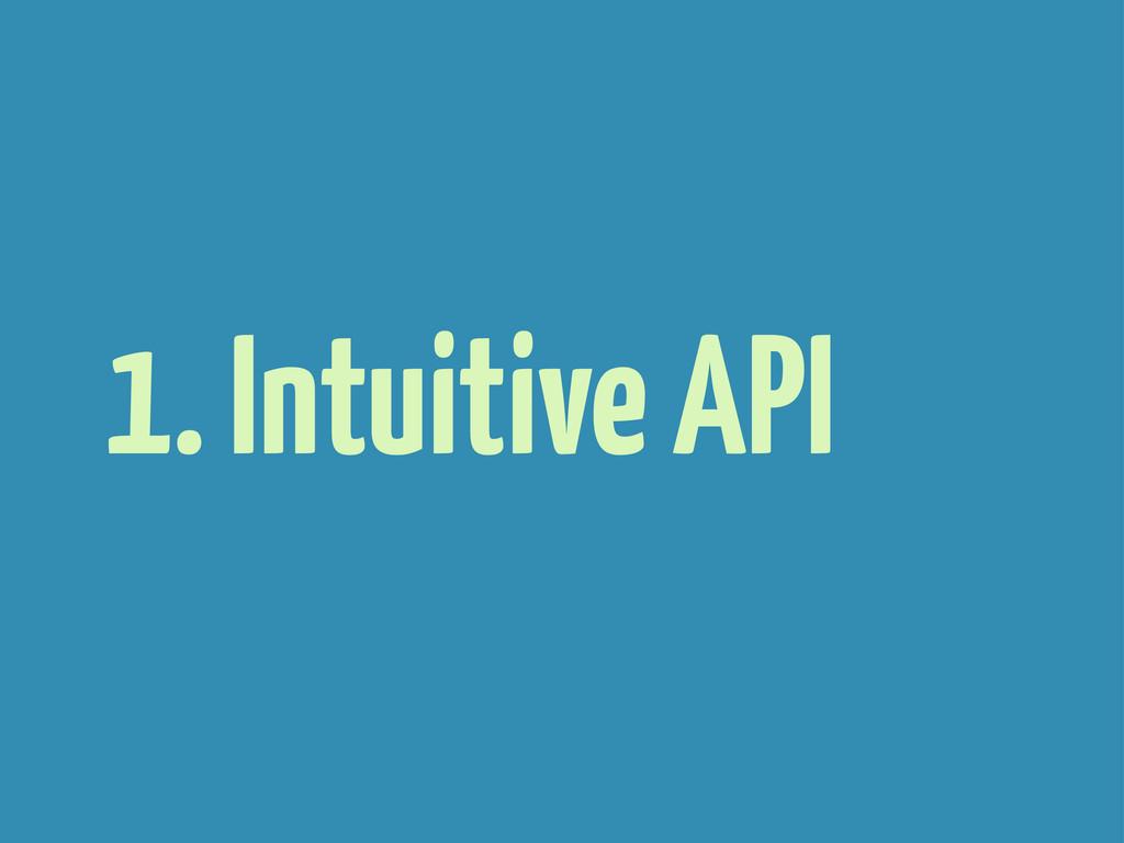 1. Intuitive API