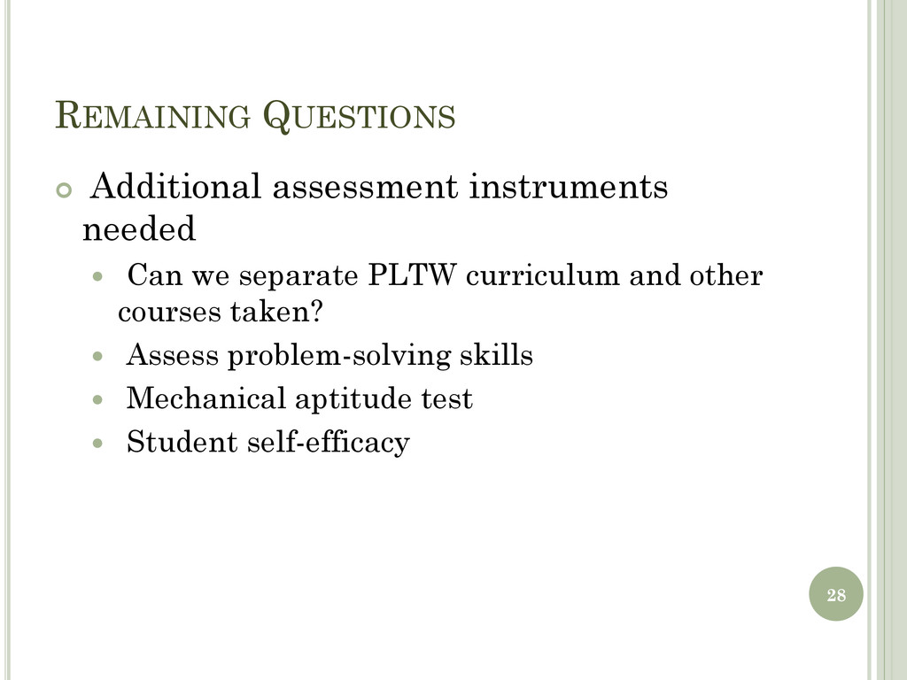 REMAINING QUESTIONS  Additional assessment ins...