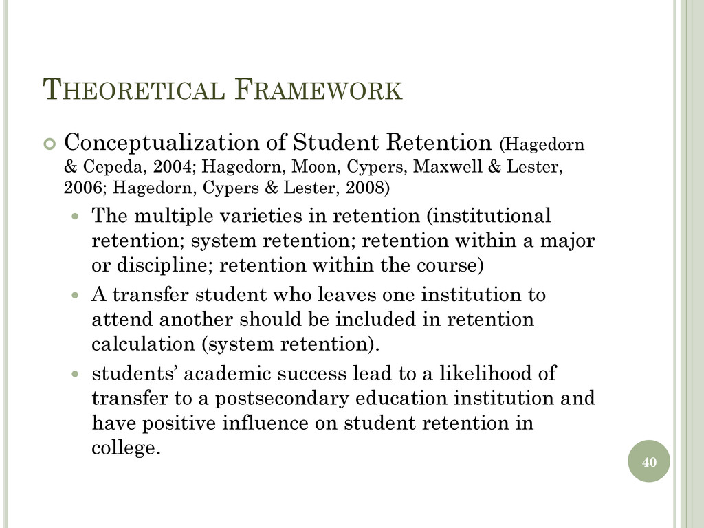 THEORETICAL FRAMEWORK  Conceptualization of St...