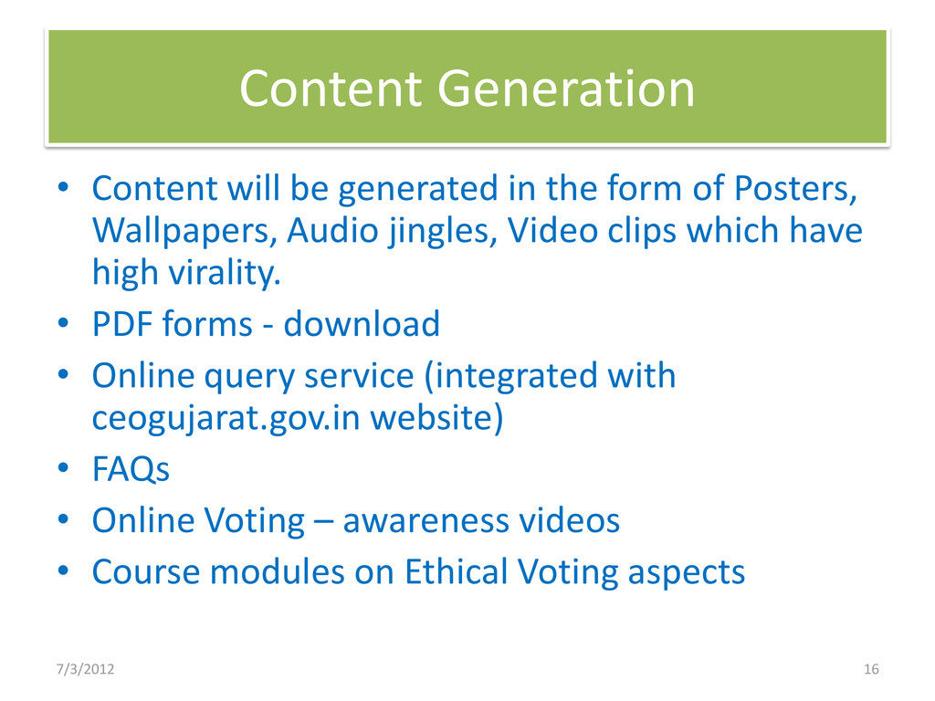 Content Generation • Content will be generated ...