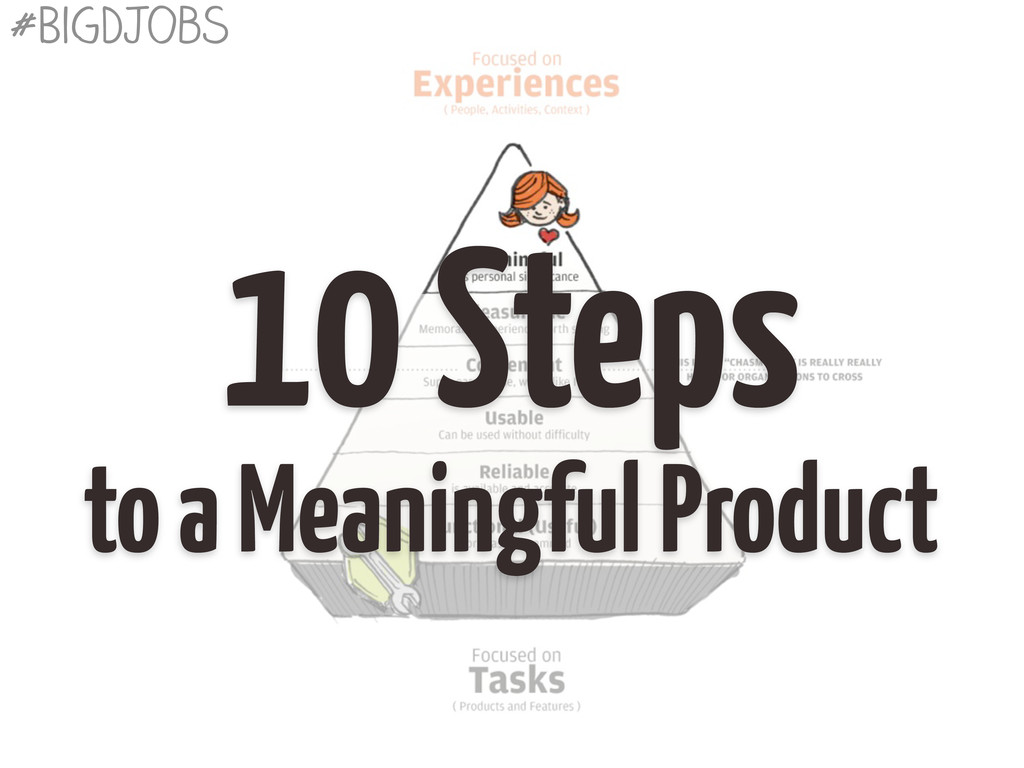 10 Steps to a Meaningful Product #BigDJobs