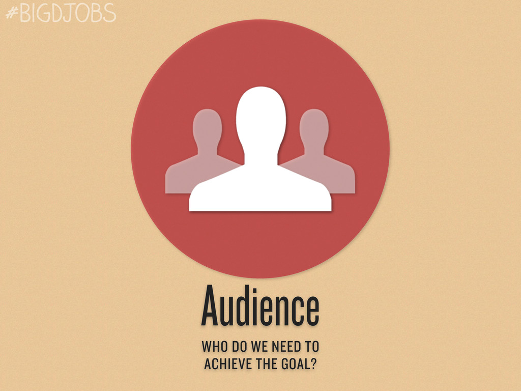 Audience WHO DO WE NEED TO ACHIEVE THE GOAL? #B...