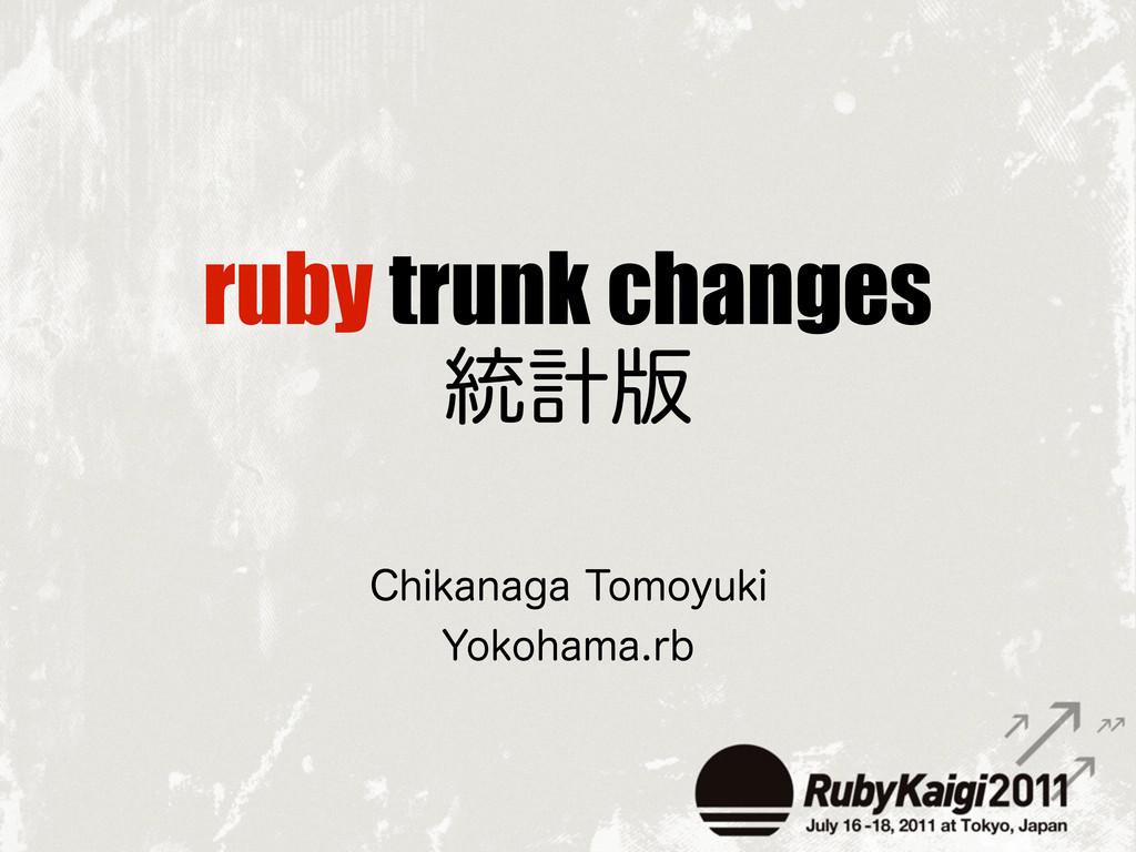 ruby trunk changes ౷ܭ൛ $IJLBOBHB5PNPZVLJ :PLPI...