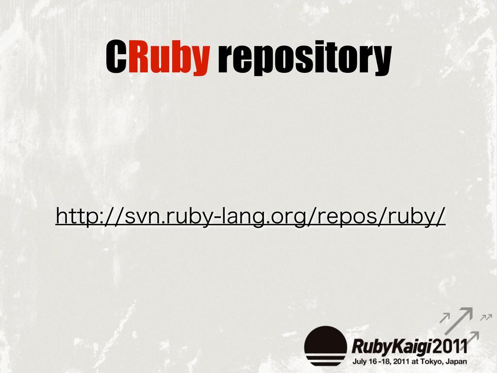 CRuby repository IUUQTWOSVCZMBOHPSHSFQPT...