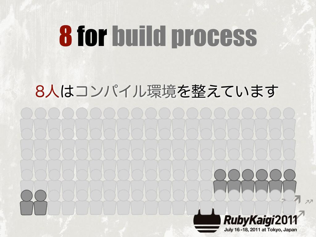 8 for build process ਓίϯύΠϧڥΛ͍͑ͯ·͢