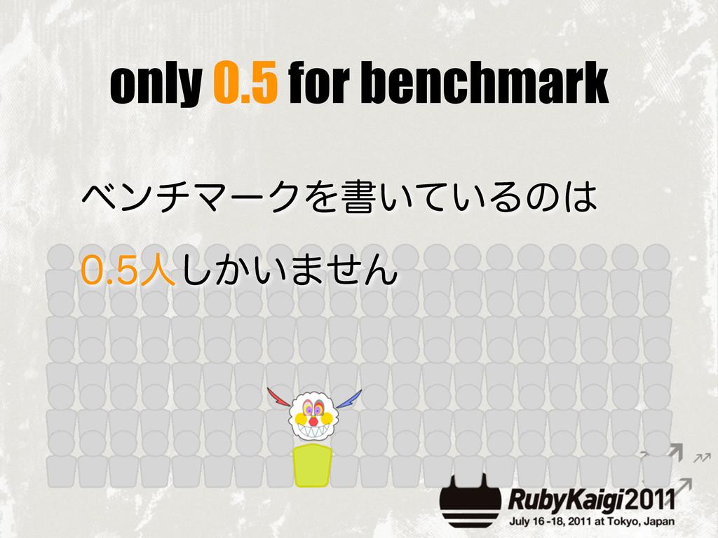 only 0.5 for benchmark ϕϯνϚʔΫΛॻ͍͍ͯΔͷ ਓ͔͍͠·ͤΜ