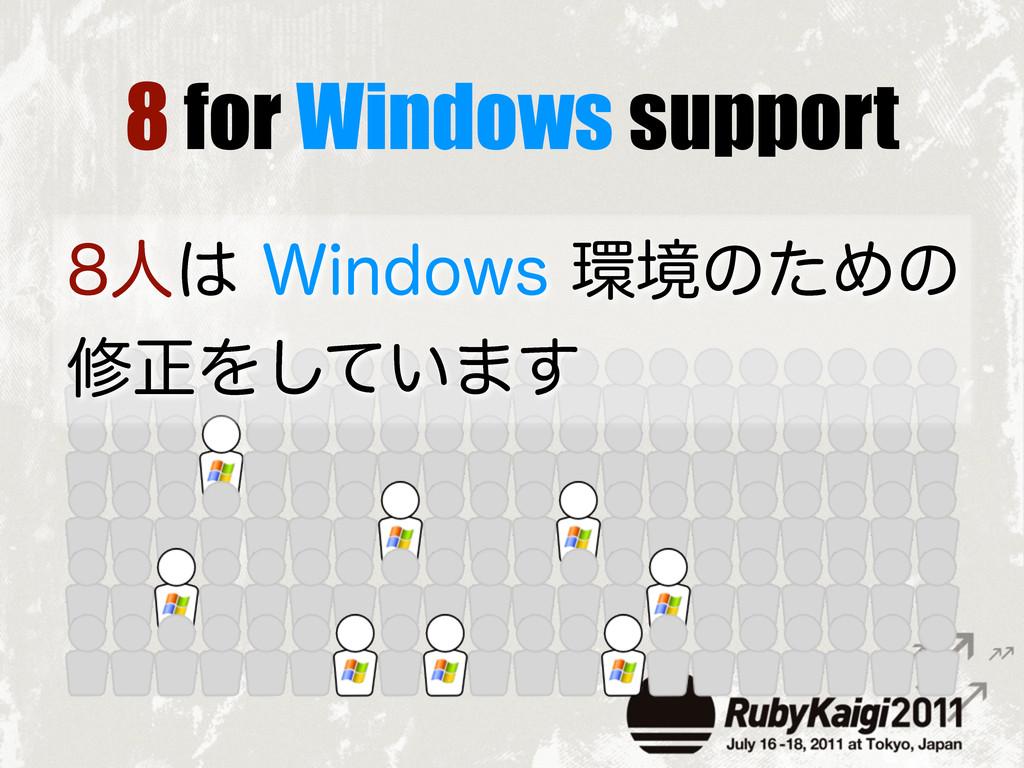 8 for Windows support ਓ8JOEPXTڥͷͨΊͷ मਖ਼Λ͍ͯ͠...