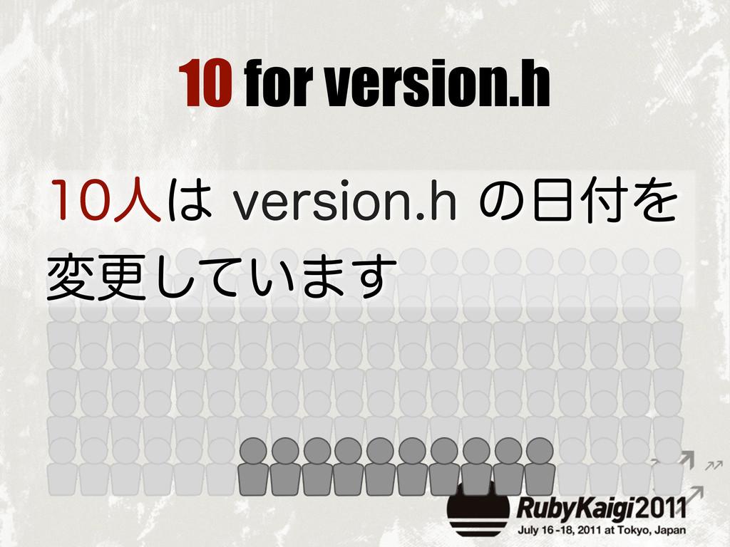 10 for version.h ਓWFSTJPOIͷΛ มߋ͍ͯ͠·͢
