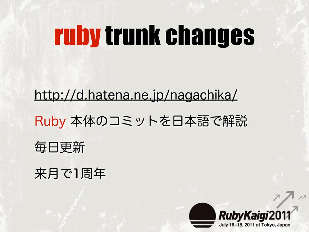 ruby trunk changes IUUQEIBUFOBOFKQOBHBDI...