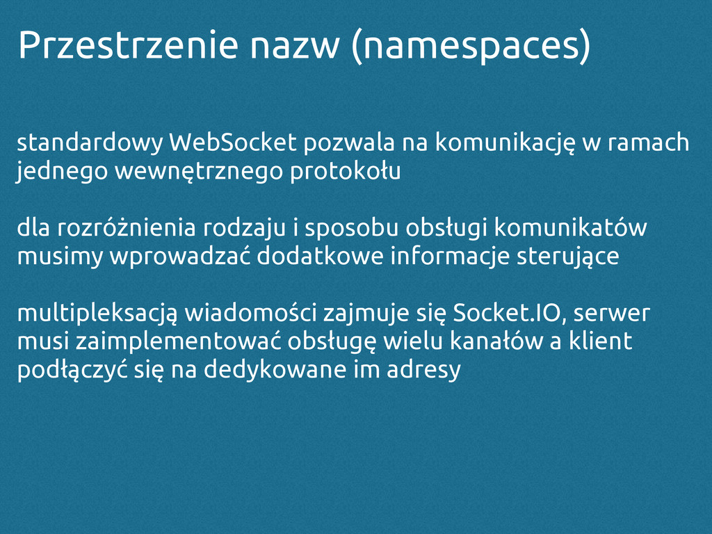 Przestrzenie nazw (namespaces) standardowy WebS...