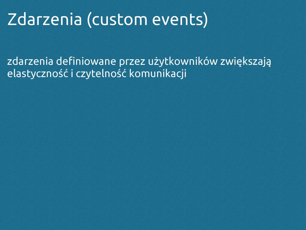 Zdarzenia (custom events) zdarzenia definiowane...