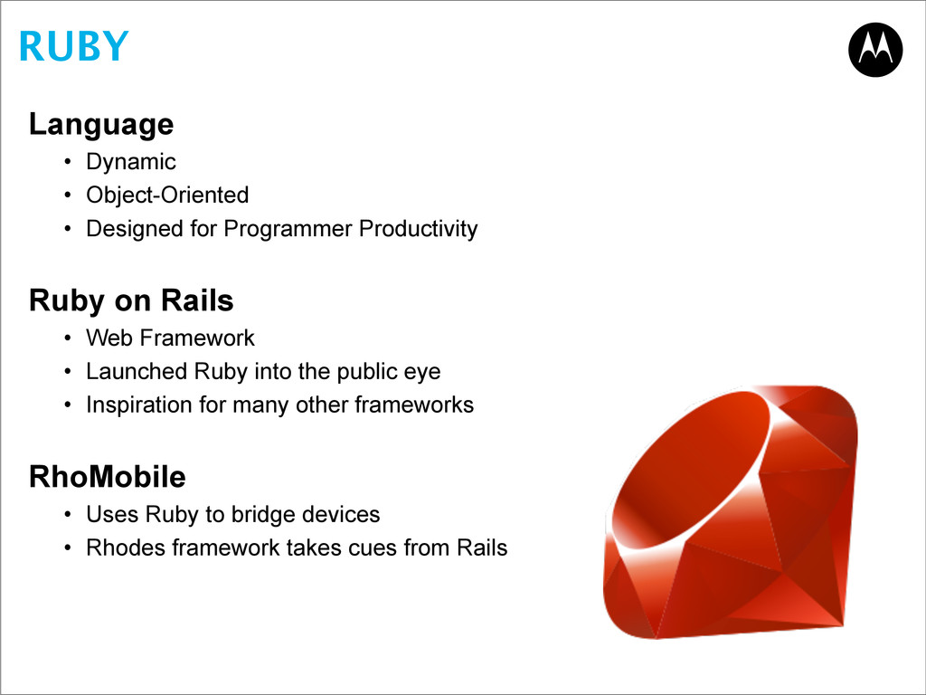 RUBY Language • Dynamic • Object-Oriented • Des...
