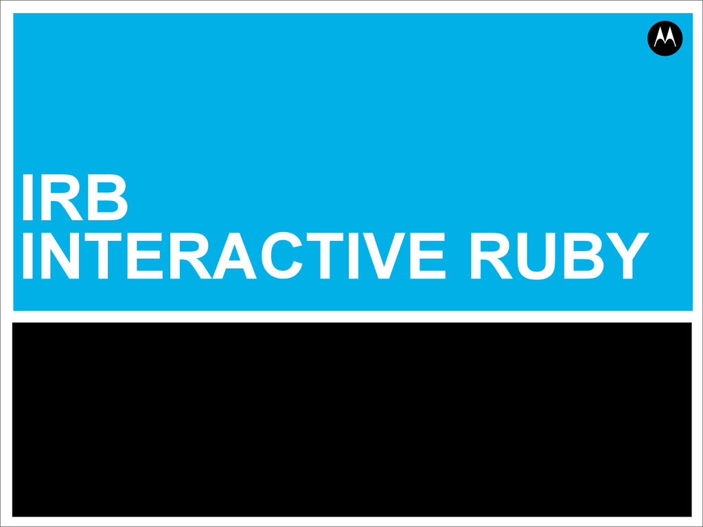IRB INTERACTIVE RUBY