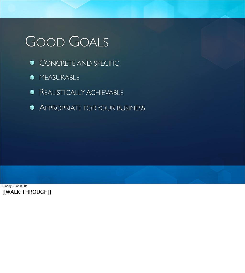 GOOD GOALS CONCRETE AND SPECIFIC MEASURABLE REA...