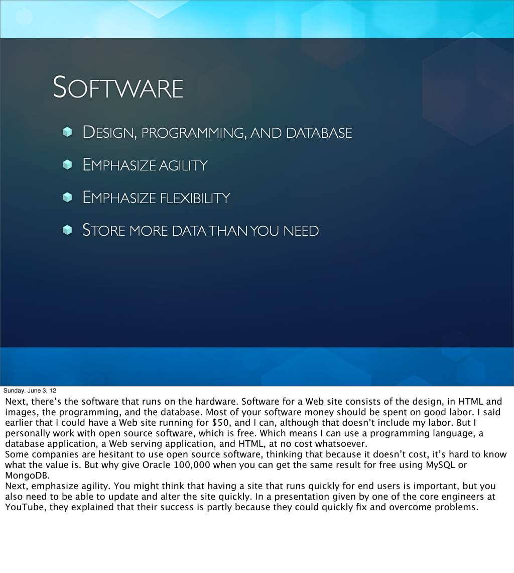 SOFTWARE DESIGN, PROGRAMMING, AND DATABASE EMPH...