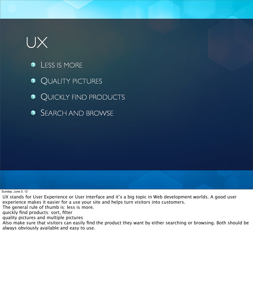 UX LESS IS MORE QUALITY PICTURES QUICKLY FIND P...