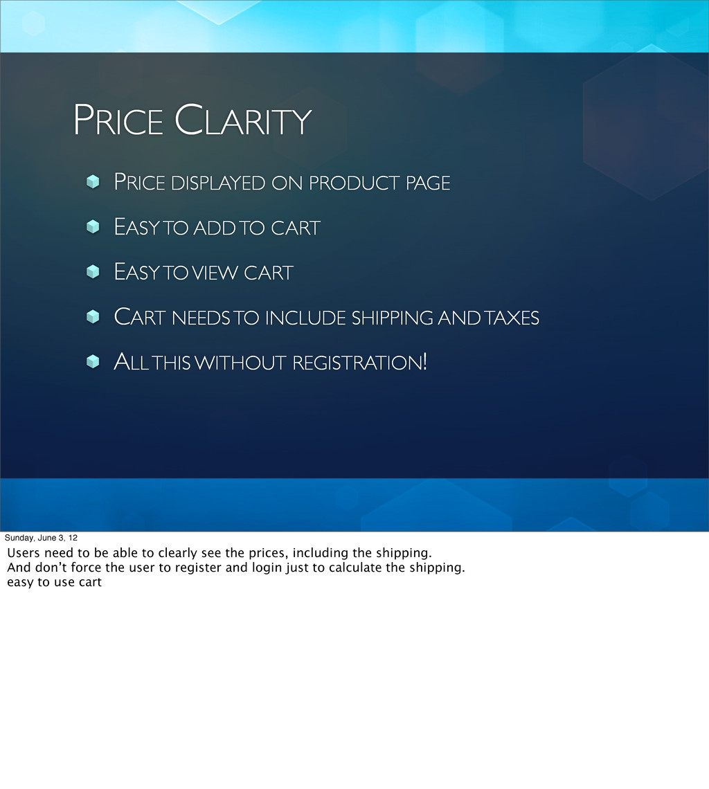 PRICE CLARITY PRICE DISPLAYED ON PRODUCT PAGE E...