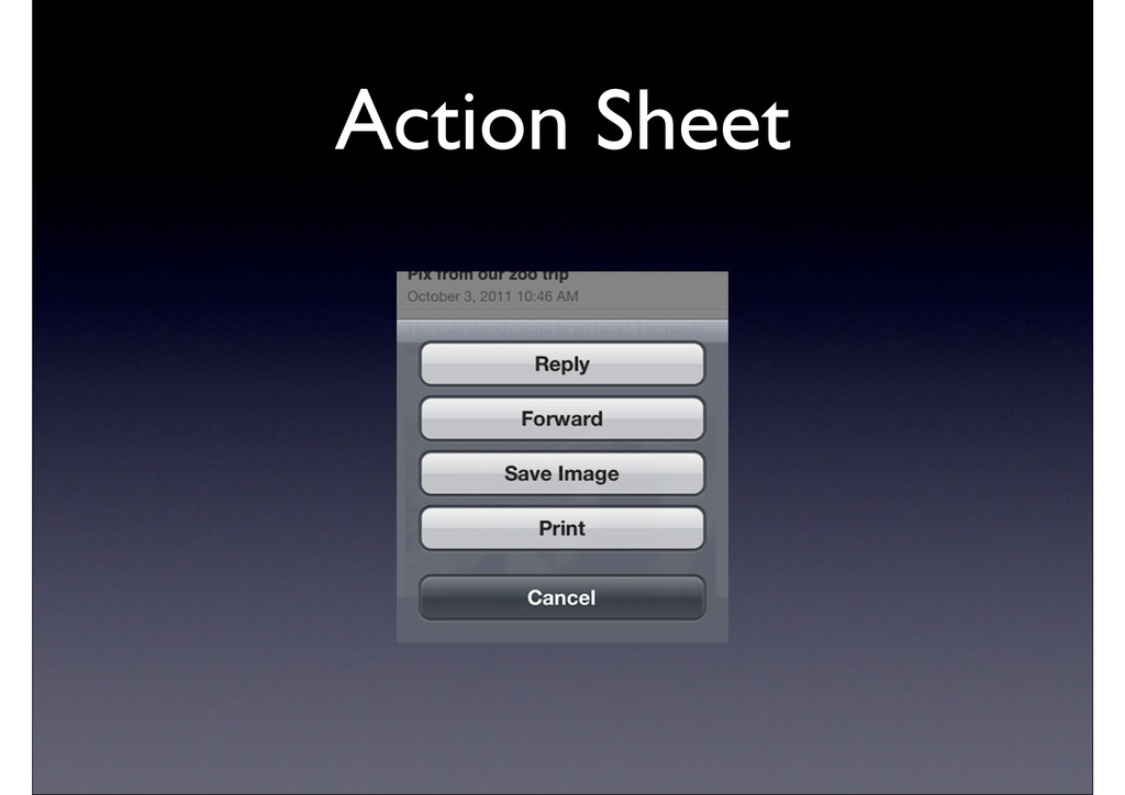 Action Sheet